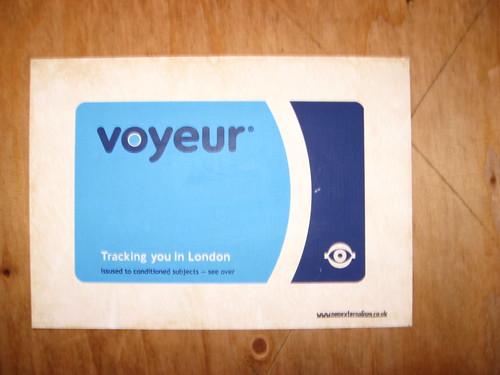 Voyeur Oyster Card - London Street Art