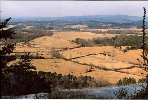 foothills mountains openspace piedmont 1990 blueridge pickens stateparks glassymountain pickenssc hdescopeland 1990february