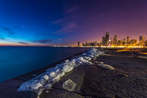 morning winter light lake chicago cold ice beach wool skyline sunrise illinois nikon long exposure downtown michigan steel north nikkor avenue d600 1635mm