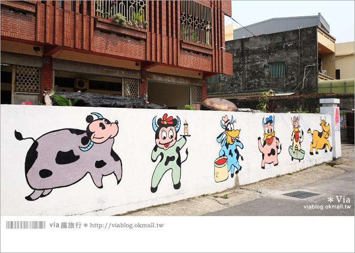 【彰化景點推薦】乳牛彩繪村(福寶村)~數百頭彩色小牛+夢幻藍晒圖的彩色村11