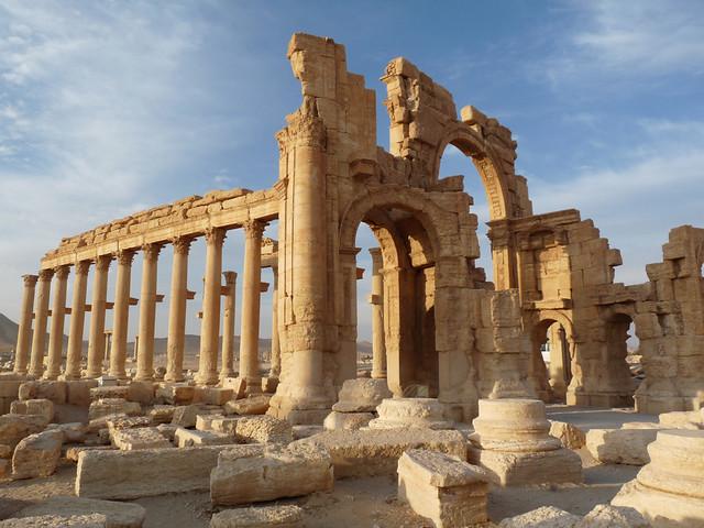 Dusk hits Palmyra. By Ian Layzell