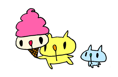 アイスクリームーを持つむー