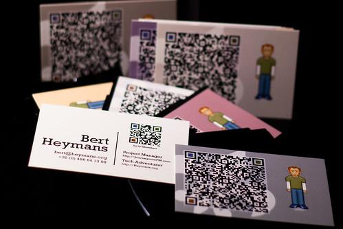 QR Code Business Card Bert Heymans