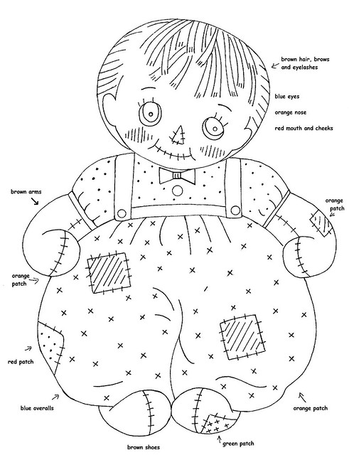 rag dolls printable coloring pages - photo#18