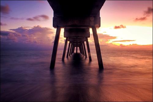 ocean longexposure sunrise landscape pier florida bokeh atlantic verobeach hotcold indianrivercounty cameroncushmanphotography