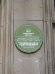 Photo of W. H. Blessley green plaque