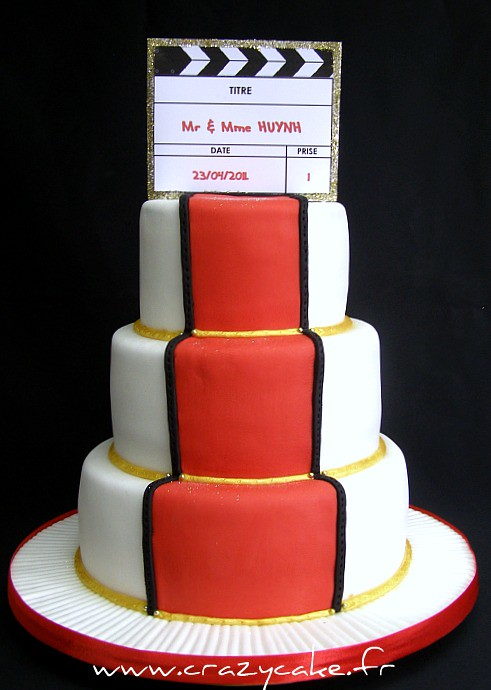 Cinema Themed Wedding Cake Unfortunately We Didnt Get A Flickr