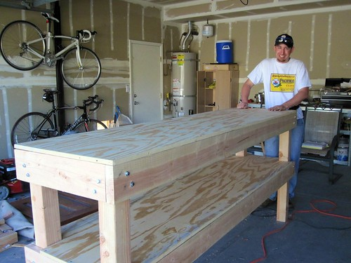 how to build a workbench frame