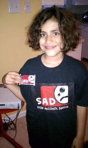 Isabelle Showing Off the S.A.D. Schwag