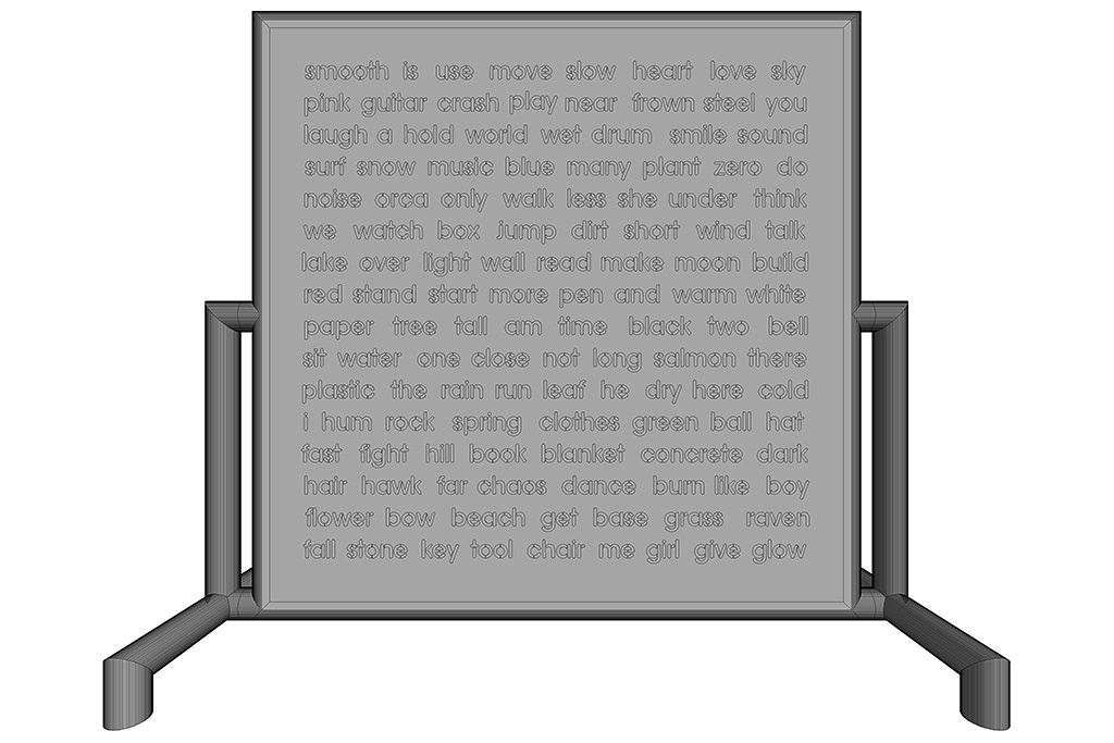 Word Wall - Current Words (Still In Progress, 3D Front View)