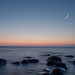 Moon, dusk & seascape 9344