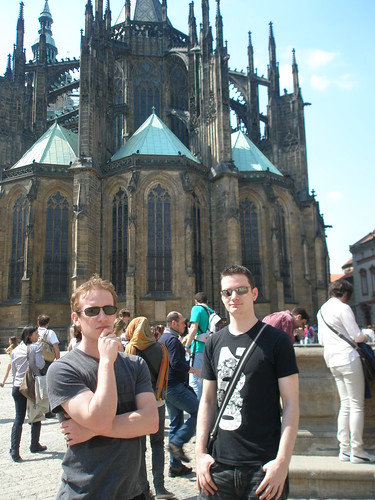Phil and Steve outsite Prague castle