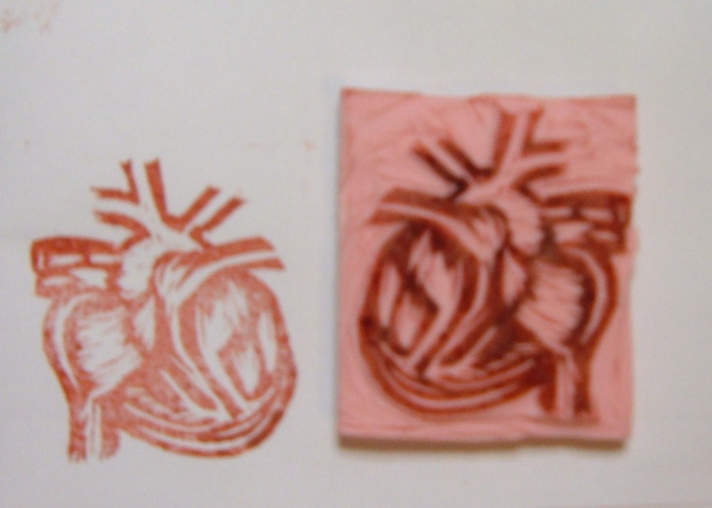 anatomical heart stamp (my 2nd one)
