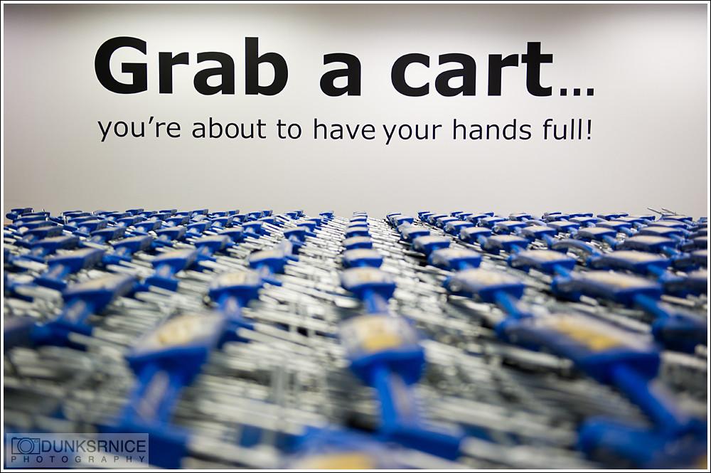 Grab a cart.