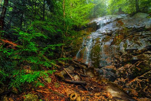 wet rain forest waterfall spring hike trail killarney provincialpark silverpeak hdrkillarney
