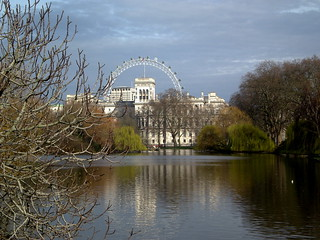 St. James Park Lake, il London Eye sullo sfondo