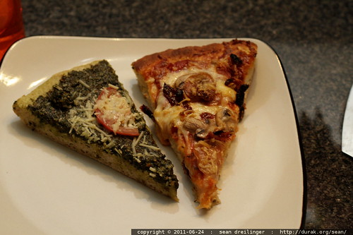 pesto pizza, or pepperoni pizza?