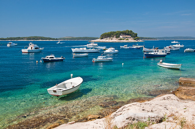 Pakleni Islands from Hvar Town, Hvar, Croatia