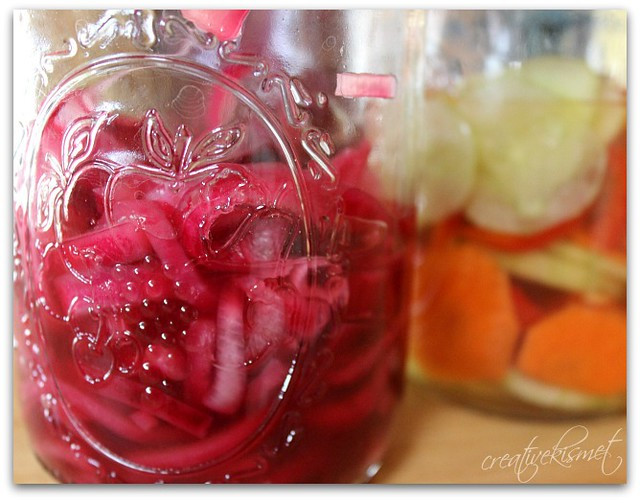 raw sauerkraut & pickled veggies