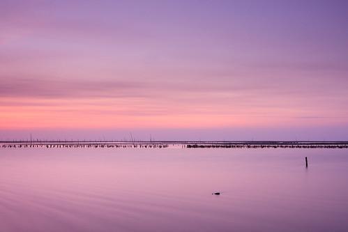 longexposure sunset beach clouds coast taiwan 夕陽 台灣 彰化 changhua 海邊 沙灘 海水 肉粽角 彰濱工業區