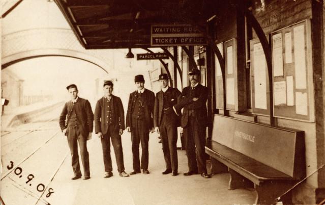 Honeysuckle Railway Station, Newcastle, NSW, Australia, 1908.