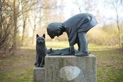 »Mädchen mit Katzen«, Johanna Jura, Pieskower Weg