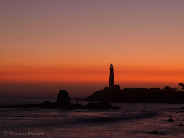 Pigeon Point Lighthouse and Prisoner Island, San Mateo, California, September 2009
