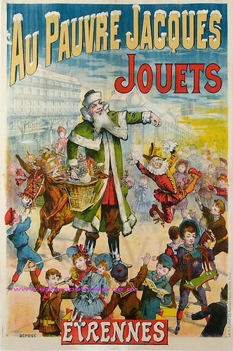 Au Pauvre Jacques Jouets 130X96 Lith Dupuis Paris by estampemoderne