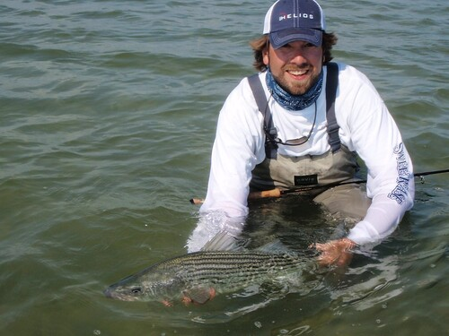 Peter Kutzer with a nice striper.