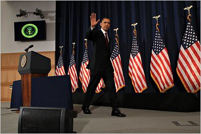 US President Barack Obama, with the flag of imperialism in the background, attempted to justify the bombing of Africa under the guise of protecting civilians in Libya. It has been substantiated by the New York Times that the C.I.A. is operating in Libya. by Pan-African News Wire File Photos