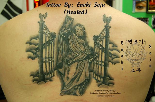 saint peter gates of heaven tattoo flickr photo sharing. Black Bedroom Furniture Sets. Home Design Ideas