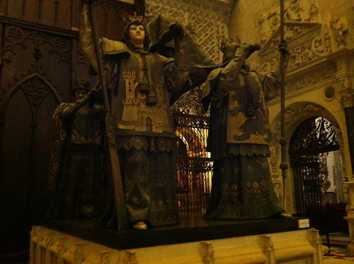 Tomb of Christopher Columbus in Sevilla Cathedral