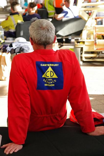 Canterbury Region Civil Defence Staff Taking Well Earned Break