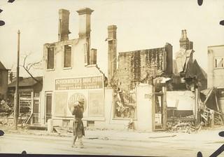 Schoenberger's Drug Store, Dayton, OH - 1913 Flood