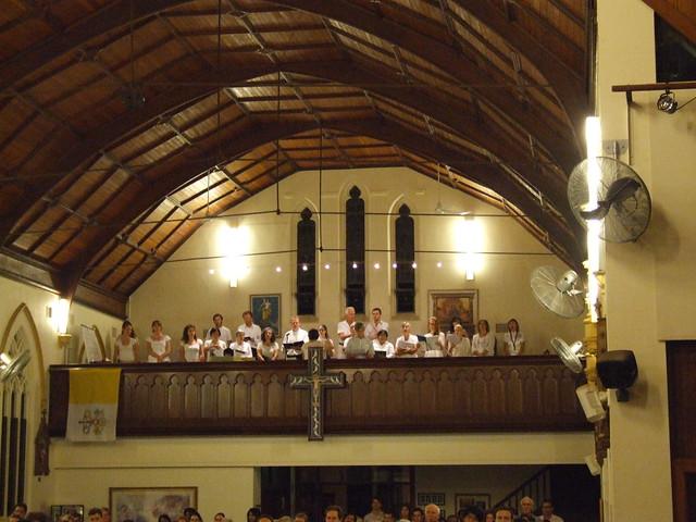 St Thomas Catholic Church Easter Vigil. The Choir Loft ...