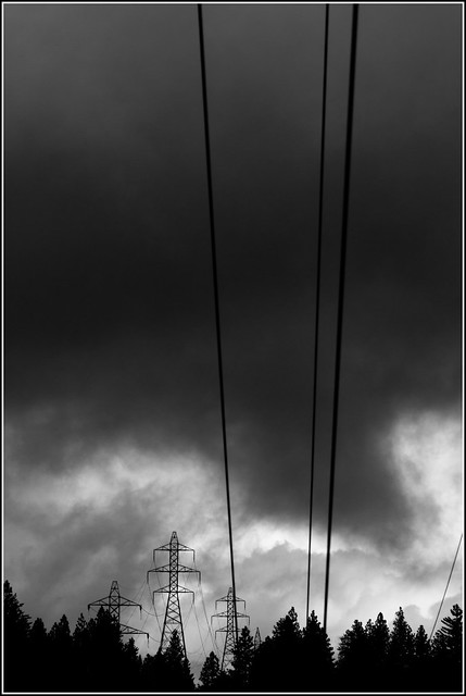 sky and power lines