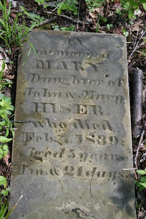 Tombstone of Mary Hiser