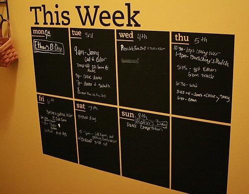 Chalk Board Vinyl Calendar