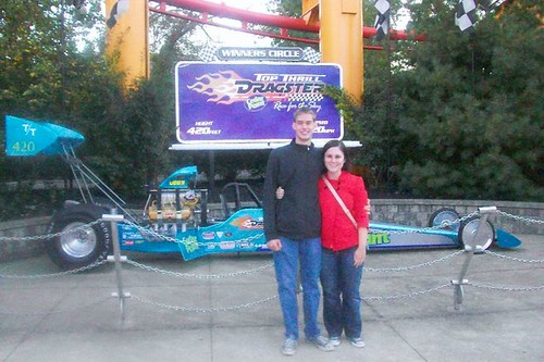 After riding the Top Thrill Dragster