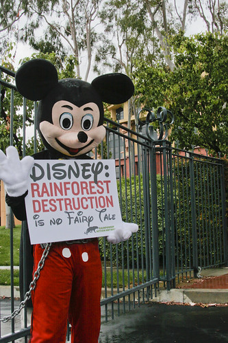 Mickey Mouse Protests Disney's Rainforest Destruction