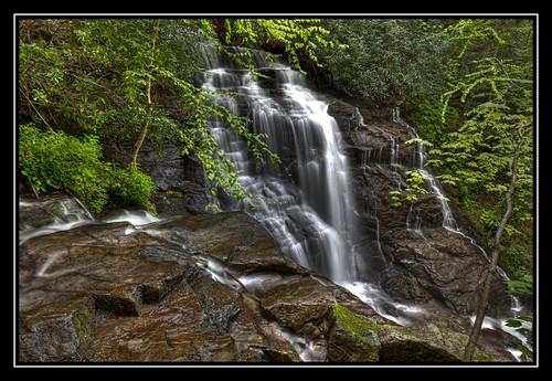 mountains wet water forest waterfall nc rocks northcarolina falls foliage waterfalls nik hdr topaz smokeymountains maggievalley photomatix wetrocks tonemapped vivenza ncwaterfalls hdraddicted socofalls
