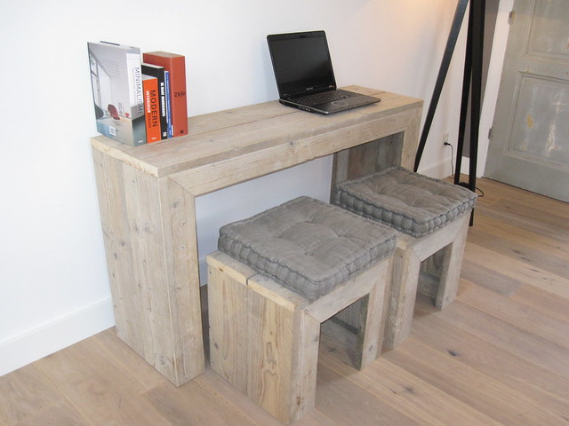 pc tafel bureau steigerhout te koop bij w00tdesign flickr photo sharing. Black Bedroom Furniture Sets. Home Design Ideas