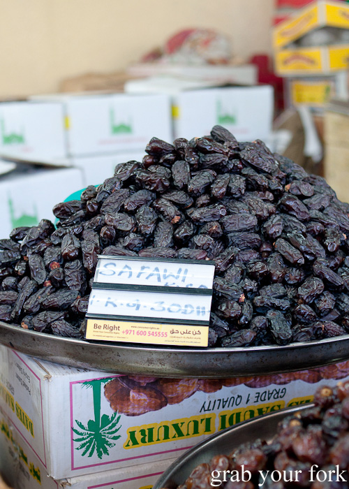 Safawi dates at Al Hamriya Fruit and Vegetable Market next to Dubai Fish Market in Deira