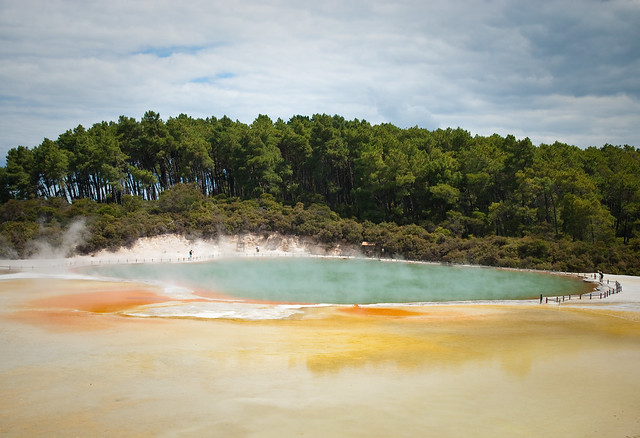 Área geotérmica de Wai-o-Tapu. Nueva Zelanda