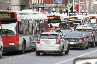 Downtown Ottawa traffic!