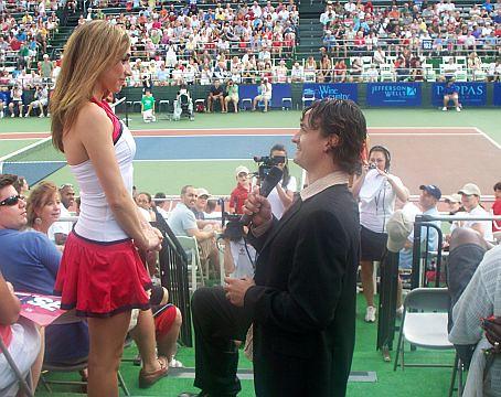 Emme Porter Bruce Porter Jr Marriage Proposal at Kastles World Team Tennis World Championships Photo Credit Washington Post