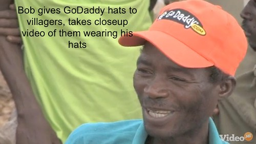 Bob Parsons elephant kill, GoDaddy hats