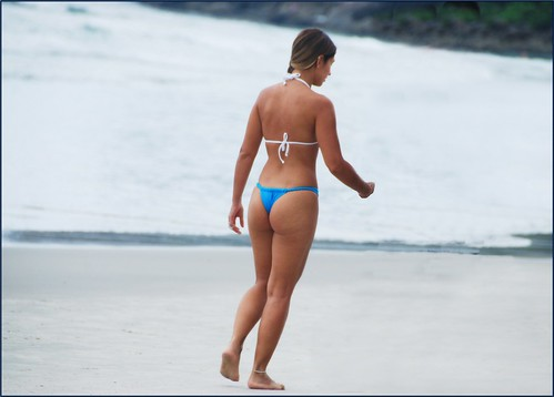 The nicest girl I ever  photographed walking down in a beach..Brasil