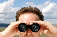 binoculars, face, hairstyle, hair,