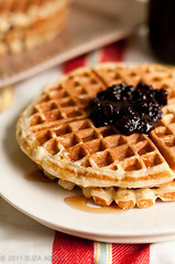 Honey-buttermilk waffles
